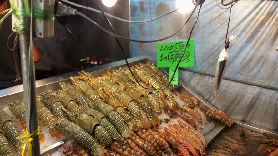 креветки ночного рынка, Хуахин