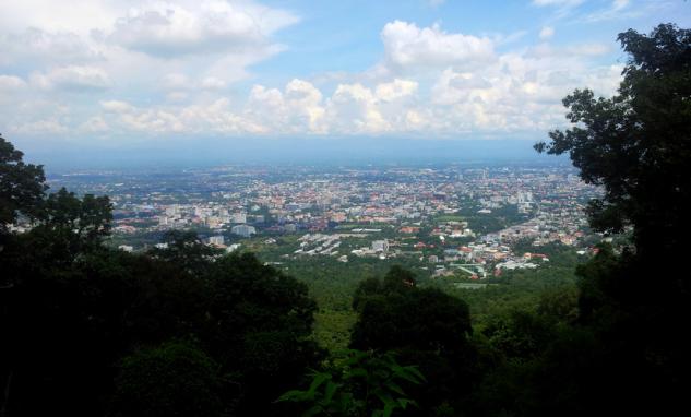 Вид на город Чиангмай