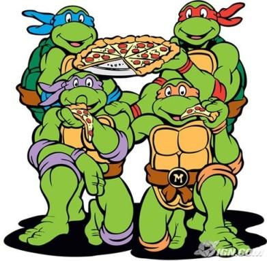 черепашки ниндзя и пицца