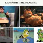 Герои фильмов и мультфильмов, которые любят пиццу