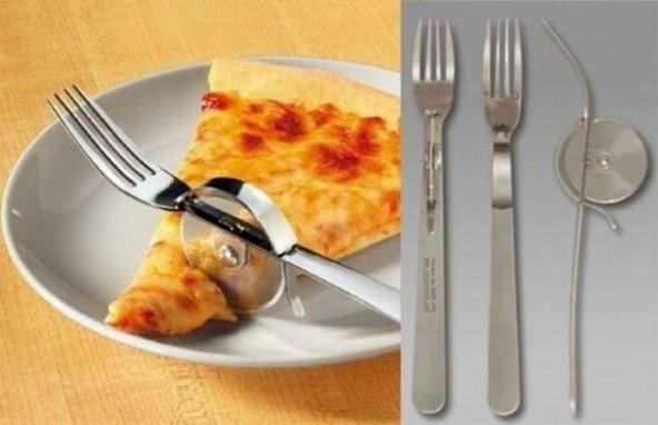 вилка-нож для пиццы
