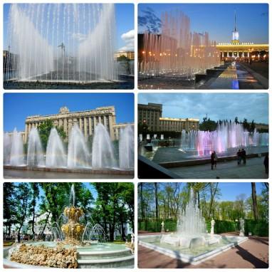 Расписание работы фонтанов в Санкт-Петербурге