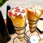 Два в одном — мороженое и пицца!