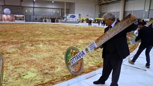 Огромная пицца в мире
