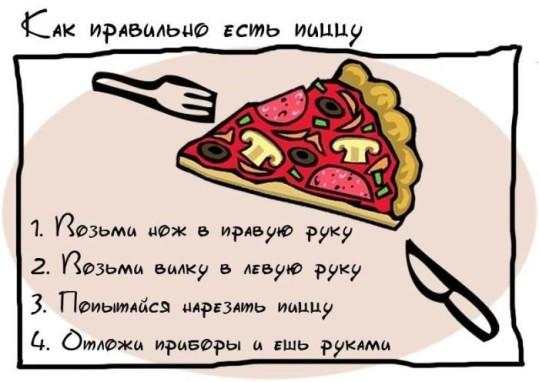 как есть пиццу