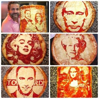 Портреты на пицце сыром